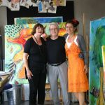 My parents visiting me in my studio